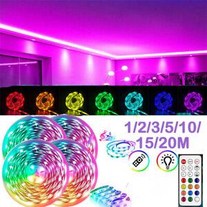 10M/15M/20M LED STRIP LIGHTS RGB COLOUR CHANGING TAPE CABINET KITCHEN LIGHTING