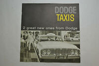 "1961 Dodge Taxi's Dealer Showroom Sales Brochure Catalog ""Original One"""