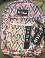 "New Trans By JanSport Laptop Sleeve 15"" Backpack Gray Coral 100%"