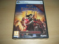 AGE OF EMPIRES III 3 Complete Collection Pc Inc Asian Dynasties & WarChiefs NEW