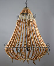 Beaded Chandelier Large Natural. RRP $1287.00. Brand new by Emac & Lawton