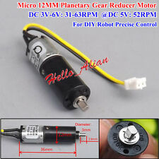 DC 3V~6V 5V 52RPM Mini 12mm Planetary Gear Reducer Motor N20 Gearbox Geard Motor