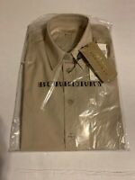 Burberry Stone  4031059 Button-down Top Woman's Dress Shirt Beige Size 4 $255,00