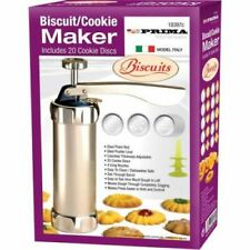 BISCUIT COOKIE PRESS MACHINE WITH 20 DESIGN MAKER DISCS & 4 CONES 18397C
