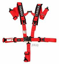 "Tanaka 2"" Latch & Link 5 Point Harness Set With Comfort Shoulder Pads (red)"
