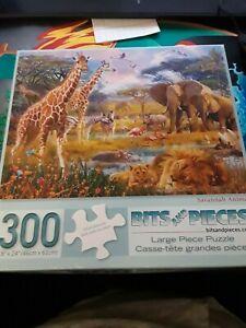 "300 Piece  Bits and pieces ""Savannah Animals"" Art By: Jan Patrik Counted"