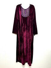 Abaya Maxi Dress Jellabiya Jalabiya Arabic Velvet Gown Winter Dress L