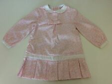 TUTTO Piccolo Girls Pink & White Dress Age 3, 36 Months  96cm Long Sleeve Vgc