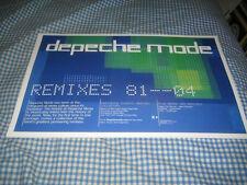 DEPECHE MODE-(remixes 81-04)-1 POSTER-11X17-NMINT-RARE
