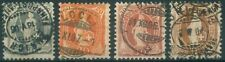 Switzerland 1882-1903 SG various re-drawn Helvetia definitive stamps used