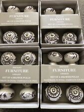 16 Ceramic Drawer Pulls / Furniture Knobs New