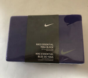 Nike Essential Yoga Solid Foam Pose Block Workout Stretching Aid Purple