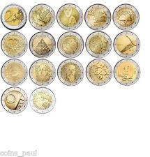 Finland 2 euro 16 coins 2005 - 2015 UNC Finlandia Finlande Finnland FDC