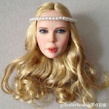 "1/6 Dreamer Princess Cute Young Girl Head Sculpt Blond Hair For 12"" Body"