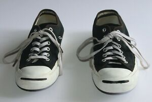 Converse Jack Purcell Black and White Canvas Sneakers Mens 6 Womens 7.5