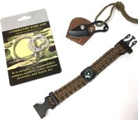 SURVIVAL OUTDOOR EMERGENCY WILDERNESS GEAR 3 PIECE KIT - KNIFE - PARACORD - SAW