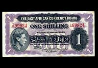 EAST AFRICA 1 Shilling 1943  P-27 ( Prefix A44 )  VF