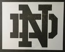 "Notre Dame ND 11"" x 8.5"" Custom Stencil FAST FREE SHIPPING"