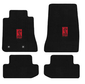 Lloyd Mats 4 Piece Heavy Plush Fits Mustang Car Floor Mats With Pony and Tribar Logo