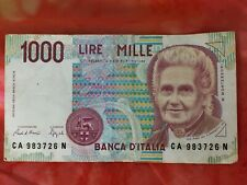 1000 Lire Mille Banknote 1990 Banca D'Italia Circulated Italian Money Bill Italy