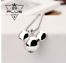 Women Fashion Cute MickeyMouse Silver Plated Long Chain Pendant Necklace Gift AU