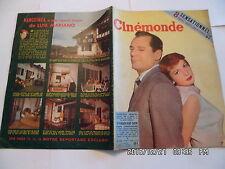 CINEMONDE N°1100 1/9/1955 F.ARNOUL E.CONSTANTINE L.MARIANO BARDOT S.TRACY   K10