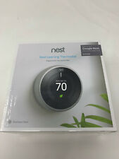 Nest Learning Smart Wifi Thermostat - Stainless Steel Model T3007ES B5