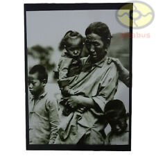 "Matted 8""x6"" old photograph Refugees of Mother and Children China before 1937s"