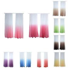 AM_ Gradient Color Window Tulle Curtain Sheer Drape Valance Bedroom Decor Cheap