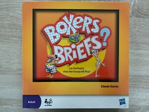 Boxers Or Briefs The Classic Humourous Game For Adults Hasbro | Brand New