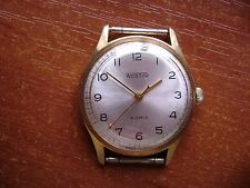 "VINTAGE USSR RUSSIA GOLD PLATED CLASSIC MEN'S WATCH""WOSTOK"" ""VOSTOK""/NICE DIAL"