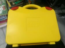 Lego Storage Carrying Case Tote Yellow Orange Red Snaps Clasps W/ Dividers Vgc