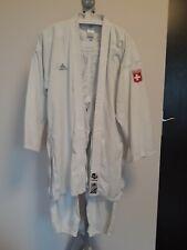 SUISSE SWISS Adidas COMBAT Elite Karate Suit Uniform WKF Adults White 175cm