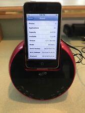 Apple iPod Touch 2ND Generation Silver 8GB MC086LL + Alarm Clock Charging Dock