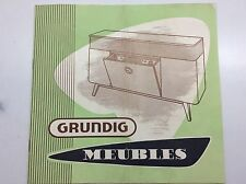 Grundig prospectus depliant meubles from the sixties