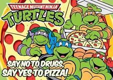Teenage Mutant Ninja Turtles Tmnt No drogas Pizza A3 impresión arte cartel gz5495