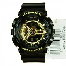 * NUOVO * Mens CASIO G SHOCK BLACK GOLD WATCH oversize ga-110gb - 1ADR 1AER RRP £ 150