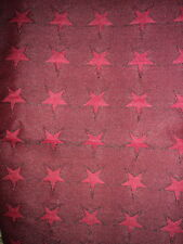 2.5 Yards Woven Tapestry Fabric Upholstery Home Decor Red Star Design