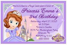 PRINCESS SOFIA THE FIRST BIRTHDAY INVITATIONS DESIGN
