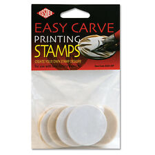 ESSDEE 10 EASY CARVE PRINTING STAMPS FOR LINO BAREN KIT TOOL 45mm ROUND DISCS