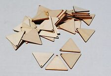 50 NEW Large Wooden Geometric Triangle Wood Pendants for Necklace or Earrings
