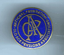 Early 1900s pin Old Age PENSIONS Assiociations pinback Mini badge OAP Initials