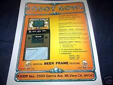 Arcade Game Advertising Brochure for Robot Bowl Exidy
