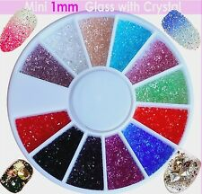 Glassplitter Farbsplitter Zirkon Micro Nailart 600Stück 1mm Strass Glitter R-275