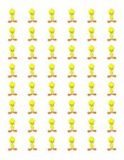 "48 TWEETY BIRD ENVELOPE SEALS LABELS STICKERS 1.2"" ROUND"