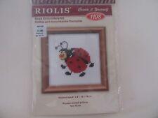 Riolis Counted Cross Stitch Ladybug Beaded  Embroidery Kit NIP 60%