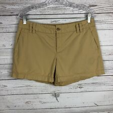 "Ann Taylor LOFT Womens Tan Chino Shorts Size 8 100% Cotton 4"" Inseam"