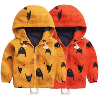 Kids Boy Girl Hooded Zipper Hoodie Jacket Sweatshirt Coat Outerwear Warm Clothes