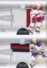 11-12 UD Ultimate Andy Miele /100 PATCH Debut Threads Coyotes 2011