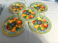 E2 -  Victoria Beale Forbidden Fruit Salad Plates Lot of 5